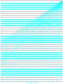 Perspective Graph Paper Template - Right Lines