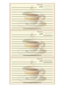 Cup White Border Recipe Card Template