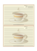 Cup White Border Recipe Card