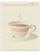 Cup White Border Recipe Card 8x10