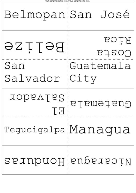 Flash Card Template Printable pdf