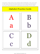 A To D Alphabet Practice Card Template