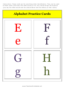 E To H Alphabet Practice Card Template