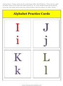 I To L Alphabet Practice Card Template