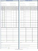 Weekly Timecard Template - Black And White