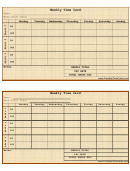 Weekly Time Card Template (brown)