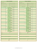 7 Day Time Card Template - Two Per Page - Green