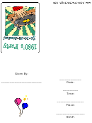 Eighties Theme Party Invitation With Record Template