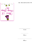 Fancy Party Going On Invitation Template