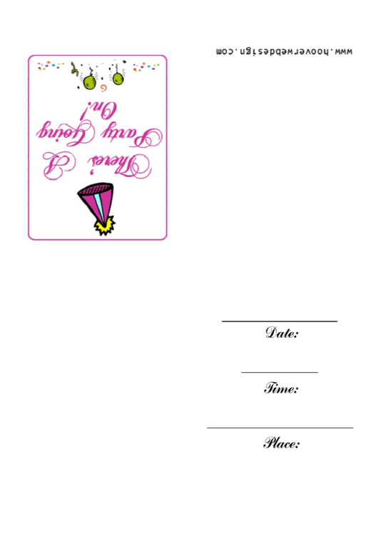 Fancy Party Going On Invitation Template Printable pdf
