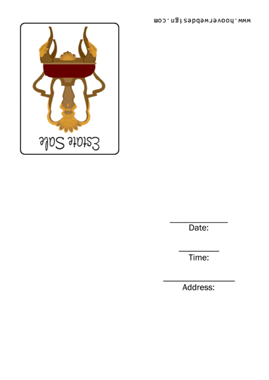 Estate Sales Invitation Template Printable pdf