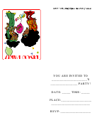 Disco Party Invitations Template