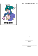Panty Raid Party Invitations Template