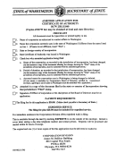 Amended Application For Certificate Of Authority Rcw 23b.15.040