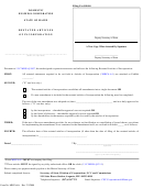 Form Mbca-6a - Restated Articles Of Incorporation, Filer Contact Cover Letter