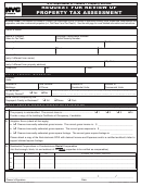 Request For Review Of Property Tax Assessment Form - Nyc Department Of Finance