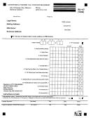 Form Rd-107 - Convention & Tourism Tax - Food Establishment