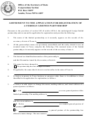 Form 412 - Amendment To The Application For Registration Of A Foreign Limited Partnership