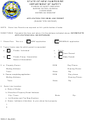 Form Dsss 41 - Application For Swim Line Permit - Department Of Safety - New Hampshire