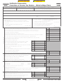 Form 100w - California Corporation Franchise Or Income Tax Return - Water's-edge Filers - 2007