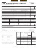 California Schedule B (100s) - S Corporation Depreciation And Amortization - 2005