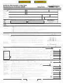 Form 540nr C1 - California Nonresident Or Part-year Resident Income Tax Return 2005