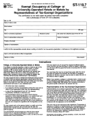 Form St-119.7 - Exempt Occupancy At College- Or University-operated Hotels Or Motels By Representatives Of Tax-exempt Organizations