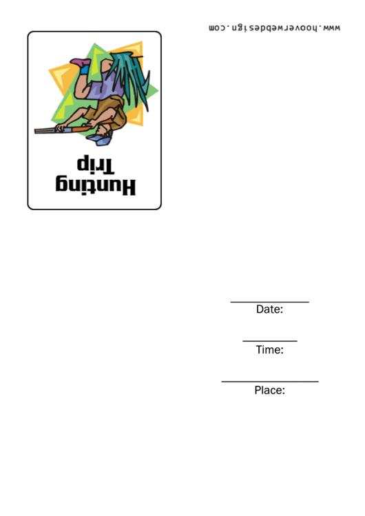 Hunting Trip Invitation Template Printable pdf