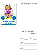 Back To School Party Invitations Template