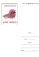 Cookout Party Invitations Template