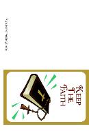 Keep The Faith Condolences Cards Template