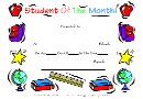 Student Of The Month School Award Template