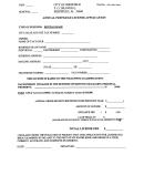 Annual Privilege License Application - City Of Sheffield