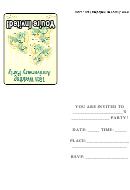 15th Wedding Anniversary Party Invitation Template