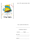 Coffee Party Invitation Template