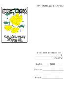 70th Wedding Anniversary Party Invitations Template