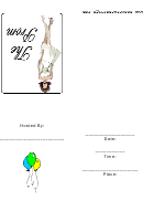 Prom Party Girl Party Inviations Template