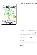 1st Anniversary Party Invitations Template