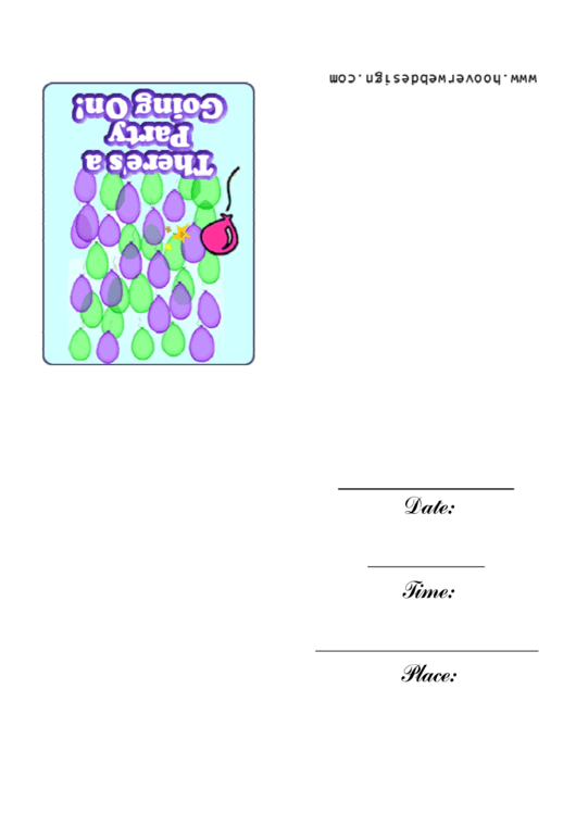 Theres A Party Going On Invitation Template Printable pdf