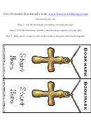 Cross Religious Bookmarks Template