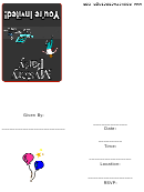 Mystery Party Invitations Template