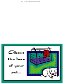Pet Sympathy Cards Template