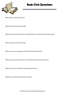 Book Club Questions Template