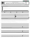 Form Tc-162 - Application For Utah Motor Vehicle Identification Number
