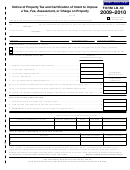 Form Lb-50 - Notice Of Property Tax And Certification Of Intent To Impose A Tax, Fee, Assessment, Or Charge On Property - 2009-2010
