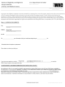 Form Wh-381 - Notice Of Eligibility And Rights And Responsibilities (family And Medical Leave) - U.s. Department Of Labor - 2013