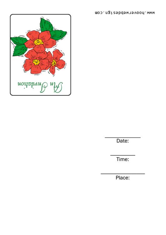 An Invitation Template Printable pdf