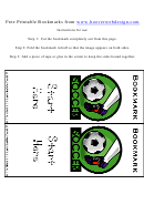 Soccer Bookmark Template