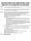Instruction For Completing Tax Return Template