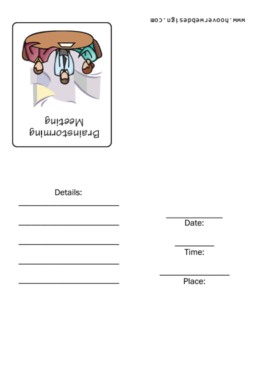 Brainstorming Meeting Invitation Template Printable pdf